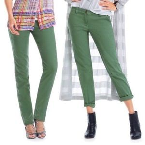 CAbi #820 green coast cropped pant in cactus